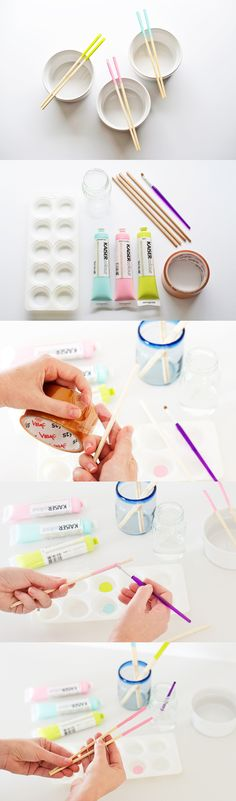 DIY: Paint Dipped Chopsticks