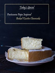 A replica recipe of Sydney's Best, the Pasticceria Papa Baked Ricotta Cheesecake! It serciously comes this close to the real thing. Warning: this post is photo heavy and the cheesecake highly addic. Baked Ricotta, Ricotta Cake, Italian Ricotta Cheesecake, Ricotta Cheese Cake Recipes, Best Cheesecake, Cheesecake Recipes, Fluffy Cheesecake, Gourmet Recipes, Sweet Recipes