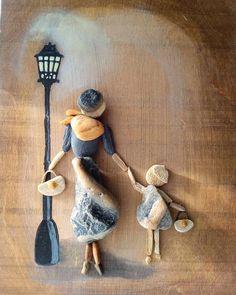 of the Best Creative DIY Ideas for Pebble Crafts .- der besten kreativen DIY-Ideen für Pebble-Kunsthandwerk – Kata Fizl – of the Best Creative DIY Ideas for Pebble Crafts – Kata Fizl – … - Pebble Painting, Pebble Art, Stone Painting, Stone Crafts, Rock Crafts, Arts And Crafts, Art Crafts, Caillou Roche, Art Pierre