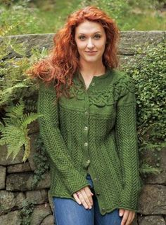 Circlet Cardigan Pattern - Knitting Patterns by Kerin Dimeler- Laurence
