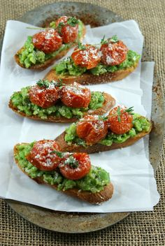 Fava Bean and Roasted Tomato Crostini | Authentic Suburban Gourmet