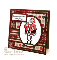 A sans gluten (gluten free) Christmas card, by Paperesse.