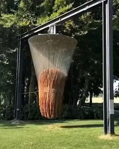 """design dunker on Instagram: """"Check out this mammoth wind chime by @etiennekrahenbuhl in the grounds of @chateauvullierens Found via 👉 @maketory #design #wind…"""" Unique House Design, Creative Design, Design Art, Creative Ideas, Design Ideas, Diy Ideas, Mc Escher, Banksy, Art Madrid"""