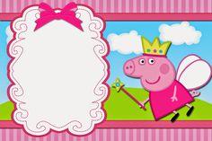 Fiestas Peppa Pig, Cumple Peppa Pig, Free Printable Invitations, Free Printables, Invitacion Peppa Pig, Peppa Pig Imagenes, Peppa Pig Birthday Invitations, Pig Candy, Aniversario Peppa Pig
