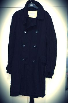 Initial Frayed Trench Coat
