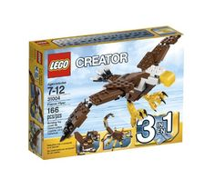 Dive through the sky with the majestic Fierce Flyer! Flap the powerful moving wings! Pose the tail feathers and grip with the articulated talons! Build the ultimate bird of prey! Rebuild it into a ven...