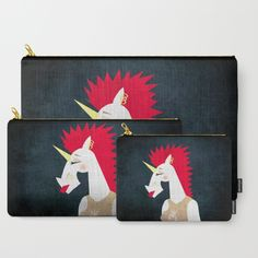Punk Rock Unicorn Carry-All Pouch