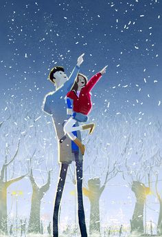 """Winter night"" by Pascal Campion"