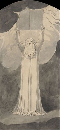 Moses Receiving the Law. William Blake's illustrations to the Bible