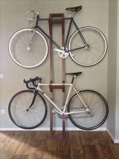Handmade Bike hanger II @Kathy Soffe can you help us build this?!