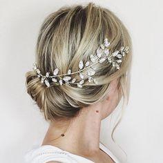 Bridal headpiece Swarovski crystal hair vine by JoannaReedBridal