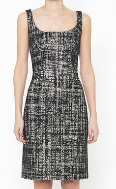 J Crew Collection Black And Metallic Dress