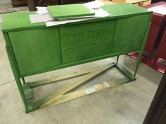 Paragon credenza, 419-409, in Jade finish. Wow!