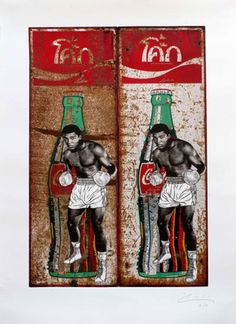 Double Ali on Coke (Silkscreen and Giclee Signed Limited Edition of 50) by Pakpoom Silaphan