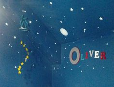 Outerspace theme Nursery & DIY Star mobile