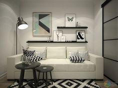 Condo Interior Design, Condo Design, Apartment Interior, Apartment Design, Small Condo Decorating, Studio Apartment Decorating, Small Space Living Room, Living Room Decor, Zona Colonial