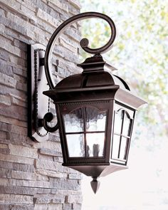 Colonial Three-Light Wall Lantern