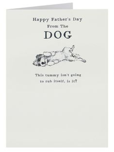 From The Dog Father's Day Card | Clintons