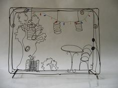 french cafe wire sculpture: by Debeauxsouvenirs