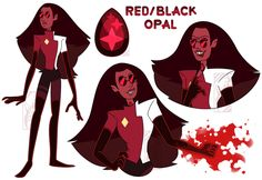 Red/Black+Opal+by+Deer-Head.deviantart.com+on+@DeviantArt