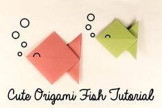 Learn how to make a cute little origami fish with this easy to follow step by step photo tutorial!: Cute Origami Fish Tutorial