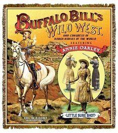 Buffalo Bill & Annie Oakley Tapestry