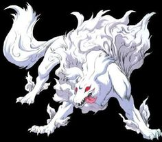 Sesshomaru in his true form as a dog demon - cropped screenshot from InuYasha Anime Oc, Anime Demon, Anime Guys, Inuyasha Fan Art, Inuyasha And Sesshomaru, Anime Wolf Drawing, Dark Mermaid, Otaku, Anime Monsters