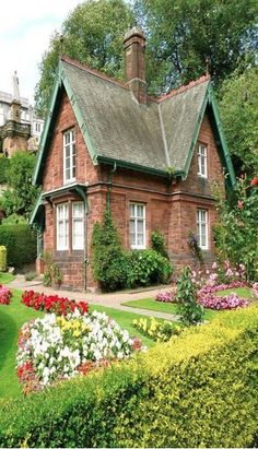 Striking Victorian-era jewel in the lowlands of Scotland, near Edinburgh. This architectural gem has been well maintained over the years – complete with beautifully cultivated cottage gardens.