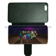 iPhone 6Plus cover made by leather with card hold Design With UK7 minecraft