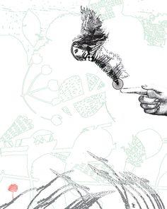 Las puntas de los dedos, las palmas. El ojo fragmentado en un gesto de aguja y sólo algunos hechos. El recuerdo del tacto y la brevedad del frío. Los ojos entornándose, los movimientos lentos, los labios en los pliegues ... Texto de Dulce Aguirre | Ilustración de Ixchel Estrada