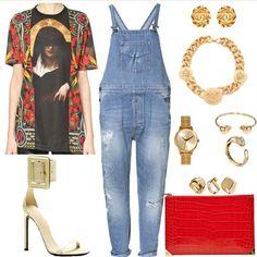 "@_rabbz's photo: ""Cunt Farmer  #ootd #ootn #fashion #style #stylist #fashionstylist #aspiringfashionstylist #styledbydemidorsey  Top: #givenchy Overalls: #zara Shoes: #gucci Bag: #alexanderwang Necklace: #versace Earrings: #chanel Watch: #nixon Bracelets: #alexandermcqueen #cartier"""