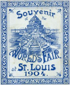 An poster sized print, approx (other products available) - St. Louis World Fair, Missouri, USA - Cover of the souvenir fold-out booklet Date: 1904 - Image supplied by Mary Evans Prints Online - Poster printed in the USA Missouri, St Louis Mo, Framed Prints, Canvas Prints, World's Fair, Thats The Way, Poster Size Prints, Booklet, Photo Puzzle