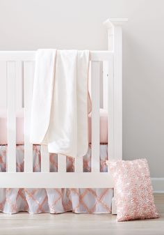 Coordinated bedding for you new baby's crib. HomeDecorators.com #nursery