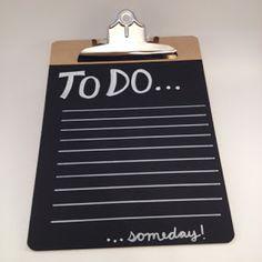 chalkboard clipboard-- what a great idea!!!