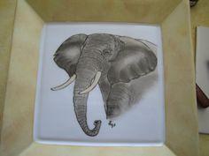 Hand Painted Plates, Tea Set, Deco, Elephants, Dinnerware, Artwork, Silhouette, India, Kitchen
