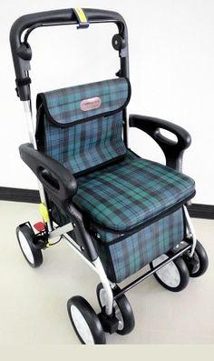 Price Premium Senior Shopping Cart Beige Checks