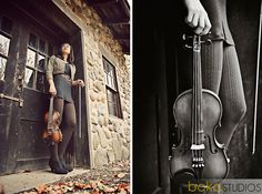 violin senior photography - could be a good shot with any instrument