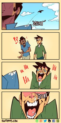 Splat by RandoWis on DeviantArt Randowis Comics, Comics Story, Funny Shit, Stupid Funny Memes, Funny Cute, Hilarious, Funny Images, Funny Pictures, Beste Comics