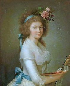 Self portrait presumed to be by Marie-Elisabeth Lemoine (c.1755-c.1812)