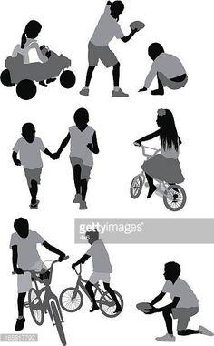 Niños jugando People Illustration, Photo Illustration, Portfolio Layout, Photoshop, Free Vector Art, Feature Film, Art Inspo, Royalty Free Images, Children