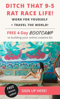 Ditch your + work for yourself + travel more! Day Bootcamp course to start your online creative business! Branding Your Business, Creative Business, Business Tips, Online Business, Boss Babe, Girl Boss, Self Care Activities, Quitting Your Job, Digital Nomad