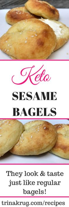Keto Sesame Bagels | Keto Diet | Ketogenic Diet | Keto Diet For Beginners | PIN NOW, MAKE LATER | Visit trinakrug.com/recipes