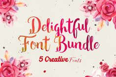 The Delightful Font Bundle: 5 Creative Typefaces - only $12! - MightyDeals