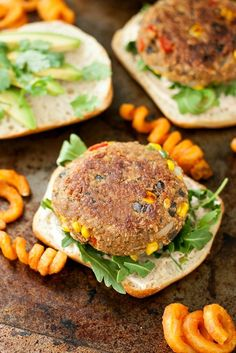 Homemade Mexican Veggie Burgers with Taco Aioli. These veggie burgers are fun, filling, and downright tasty! They're also gloriously vegan and gluten-free.