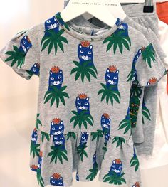 Sweet cat in the jungle print at Little Marc Jacobs girlswear for spring / summer 2016
