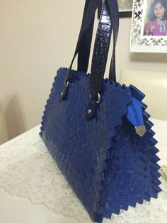 Paper Weaving, Candy Wrappers, Candy Bags, Hermes Birkin, Michael Kors Jet Set, Purses And Bags, Tote Bag, Handmade, Diy Clutch