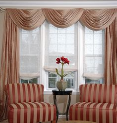 Curtain designs for living room pictures to pin on pinterest - Swag Curtains On Pinterest Swag Window Treatments And