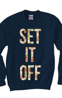 Light Floral Pattern Crewneck Sweatshirt Hoodie - Set It Off Hoodies - Official Online Store on District Lines