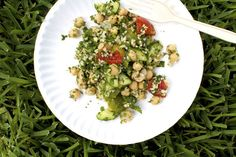 Chickpea, Tomato, and Mixed Herb Salad on Food52