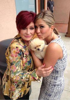 Jennifer Aniston & Sharon Osbourne 2013